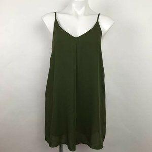 Tobi Shift Dress Draped Mini V Neck Strappy Sz S